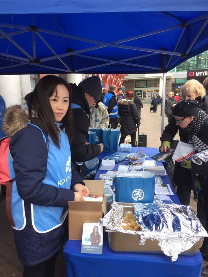 華裔市議員陳燕妮是芬蘭中國和平統一促進會(FAPPRC)的創始成員。圖翻攝自陳燕妮粉絲專頁