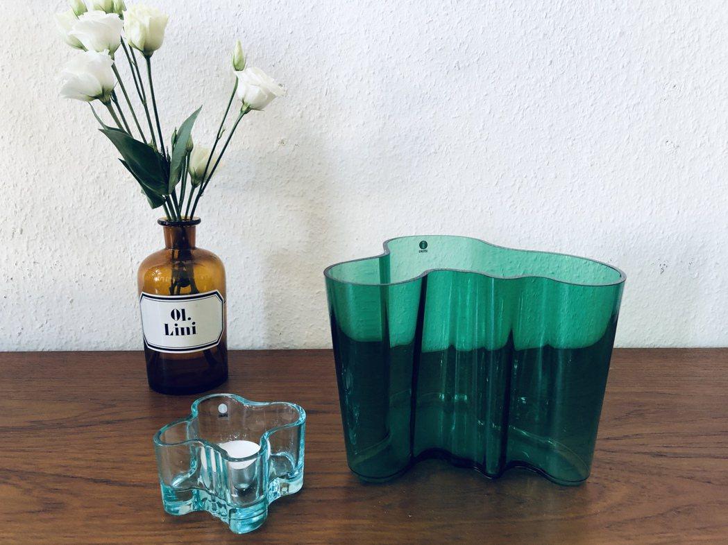 芬蘭是著名的千湖之國,Savoy花瓶有機的線條,便靈感於此。 圖/許育華拍攝