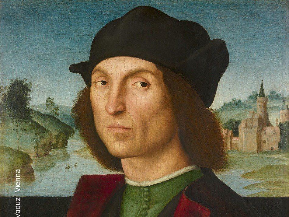 文藝復興時期拉斐爾畫作《男子肖像》。 圖/聯合報資料圖