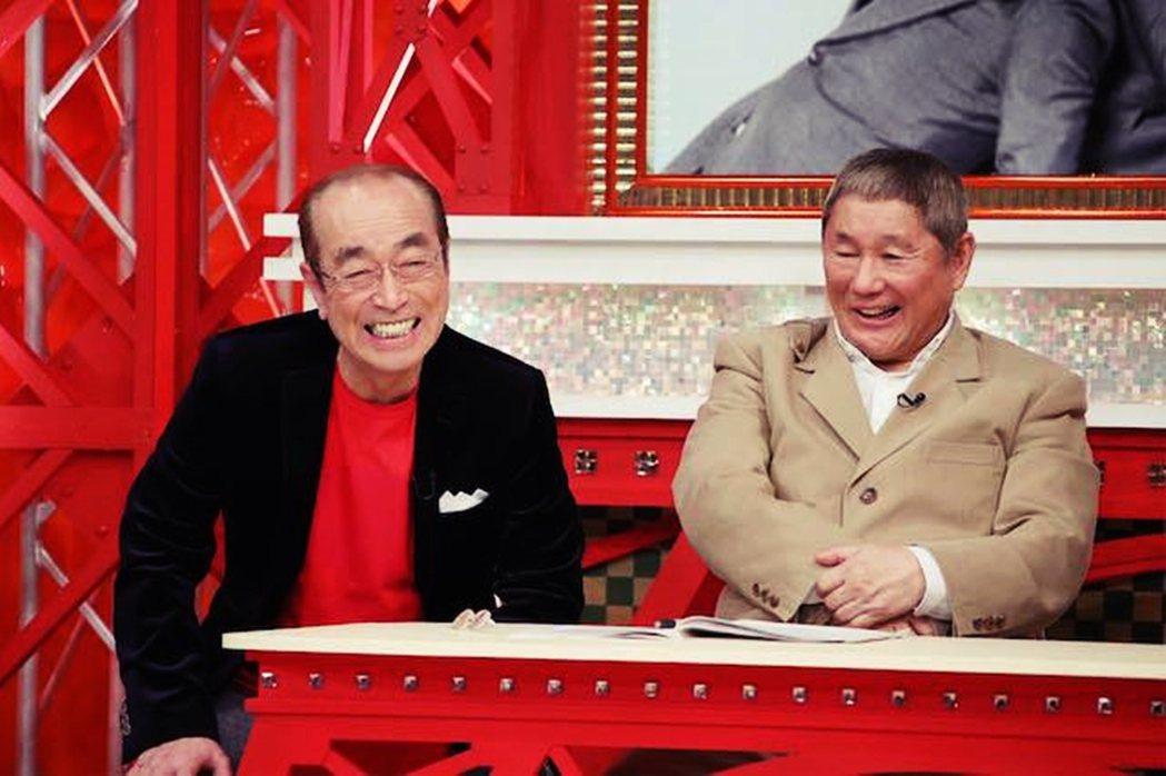 志村健(左)與同期老友北野武(右)。 圖/志村健臉書