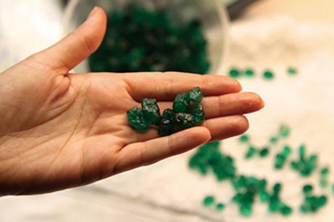 巴西的祖母綠原石和祖母綠刻面寶石。寶石的切割、拋磨和可能的處理是可追溯性科研路上的瓶頸。(圖/Laurent E. Cartier)