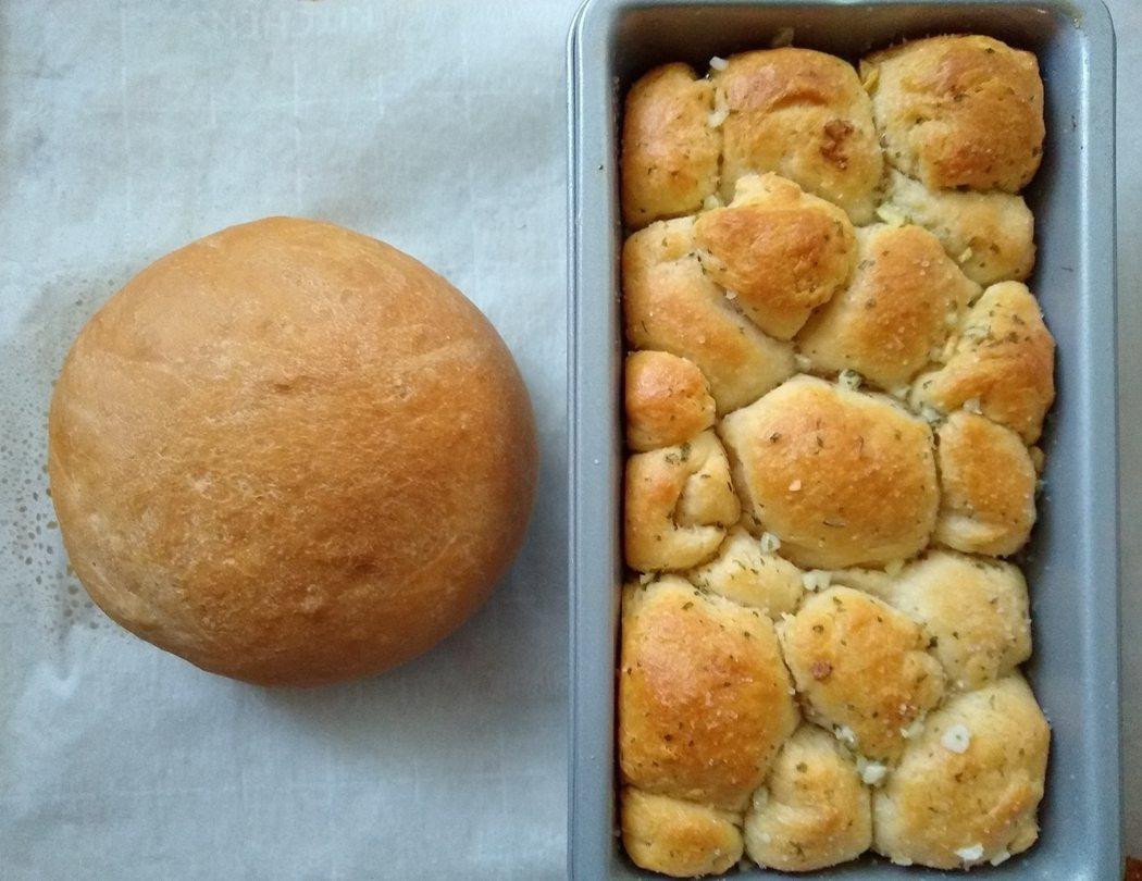 圖文:美國番媽/食譜/手撕大蒜麵包
