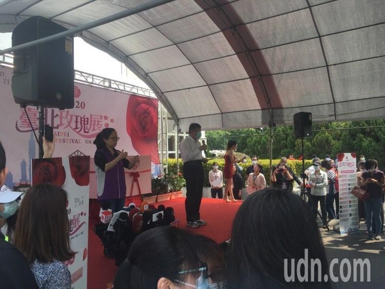 台北市長柯文哲今天上午出席「2020台北玫瑰展」。記者張世杰/攝影