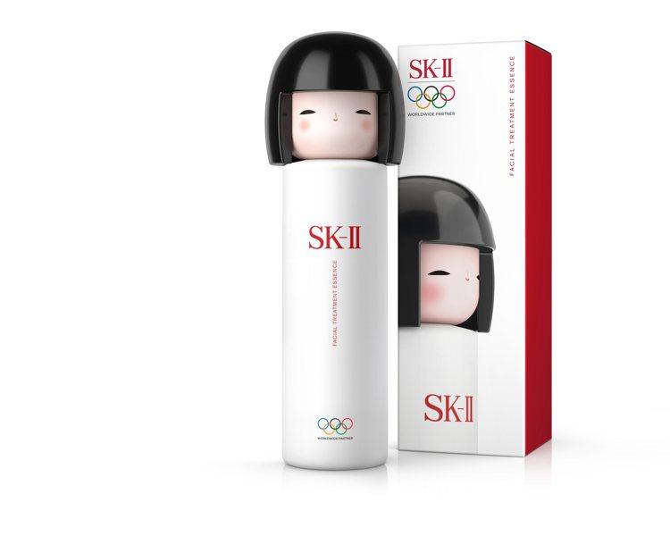 SK-II青春露東京奧運官方指定精華限定版瓶身/5,918元。圖/SK-II提供