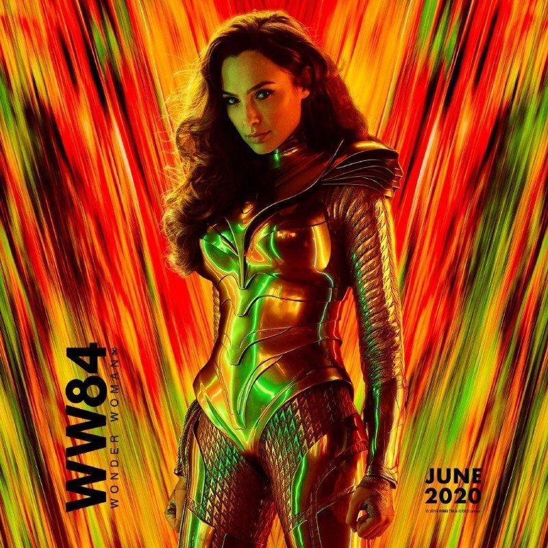 「神力女超人1984」首發海報。圖/華納兄弟提供
