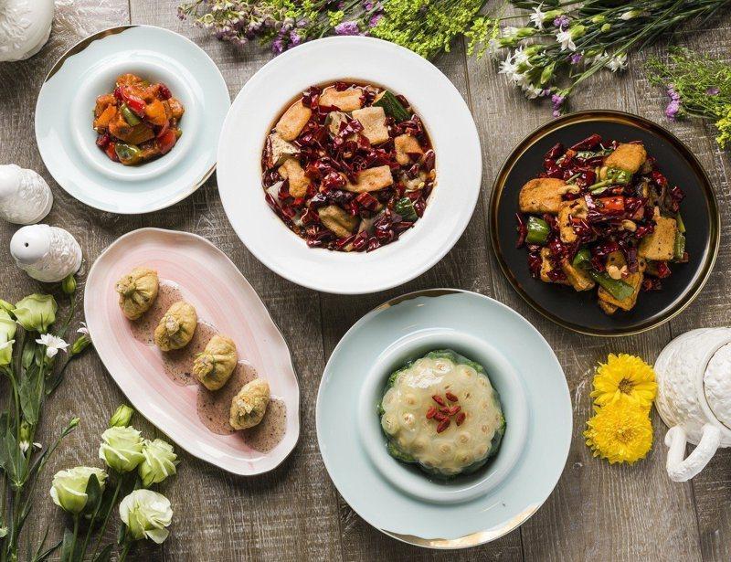 心齋提供有多樣化的素食料理。圖/心齋提供