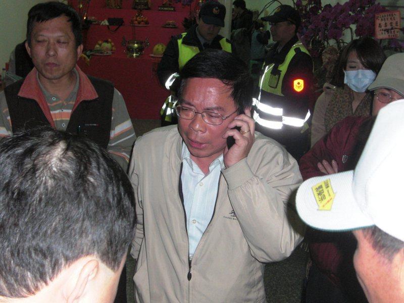 郭榮宗今天上火線反擊,指蘇貞昌貴為行政院長,用不存在的事抹黑他與桃勤,非常侮辱人。圖/聯合報系資料照片