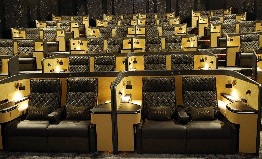 威秀影城的座位將採安梅花座安排。圖/聯合報系資料照