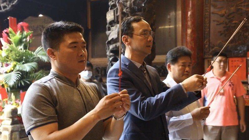 國民黨前主席朱立倫今赴大甲鎮瀾宮參拜還願。圖/朱立倫辦公室提供