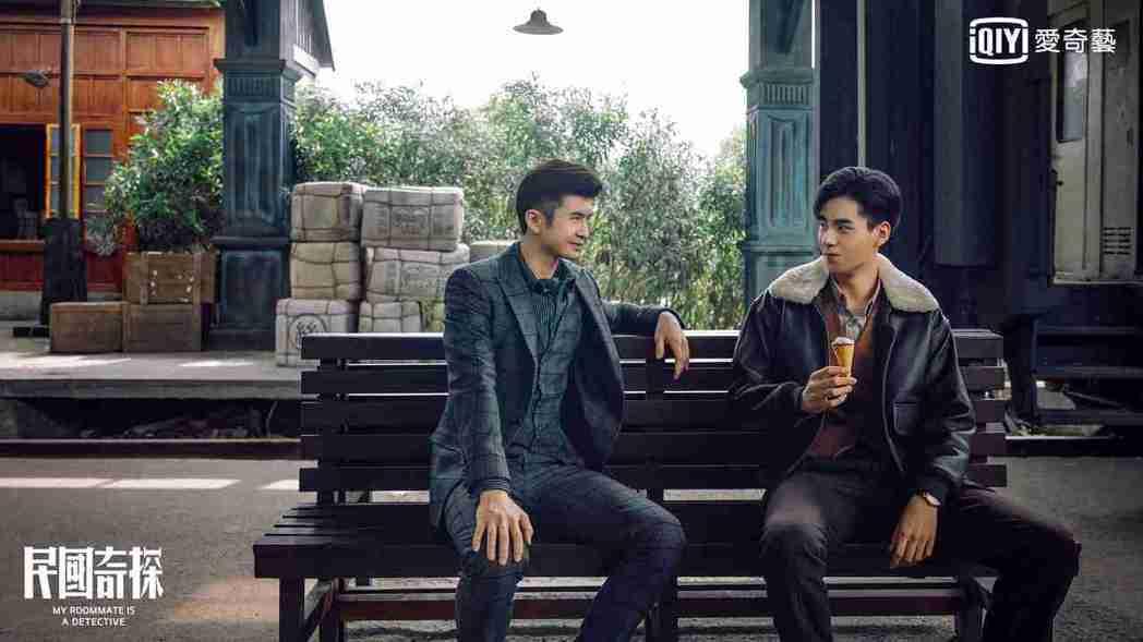 胡一天(右)、張雲龍高顏值雙男攜手破案。圖/愛奇藝台灣站提供