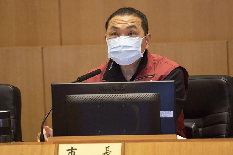 新北市長侯友宜指出,要將「全民防衛動員準備法」的演練用在社區感染演習上。記者王敏旭/攝影