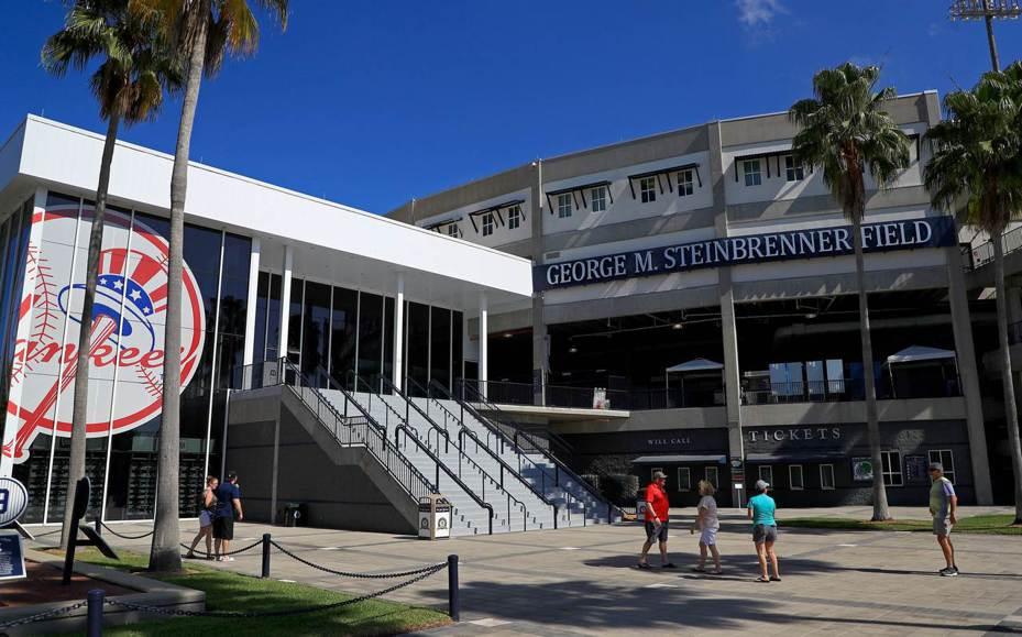 出現棒壇首例新冠肺炎確診案例的洋基小聯盟春訓基地,將於明天完成14天隔離。 法新社