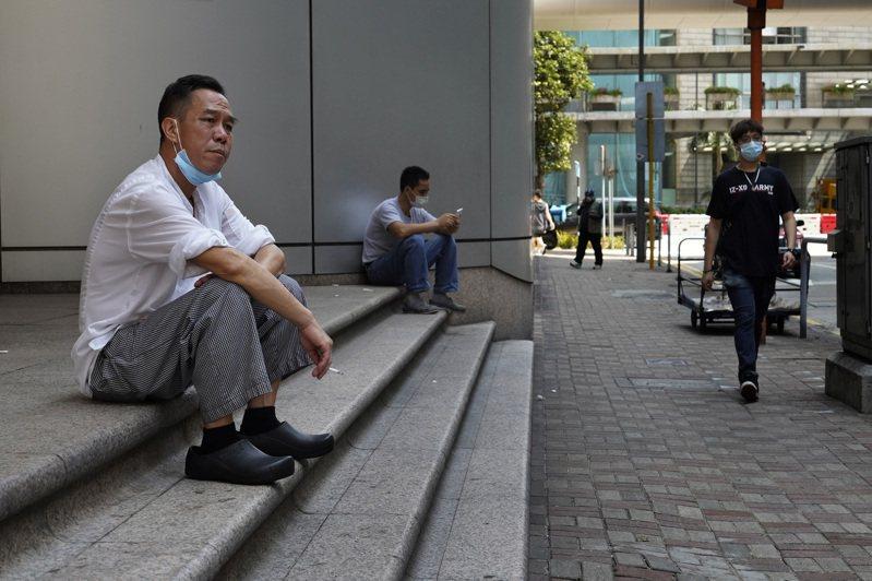 香港本地確診個案上升。 美聯社