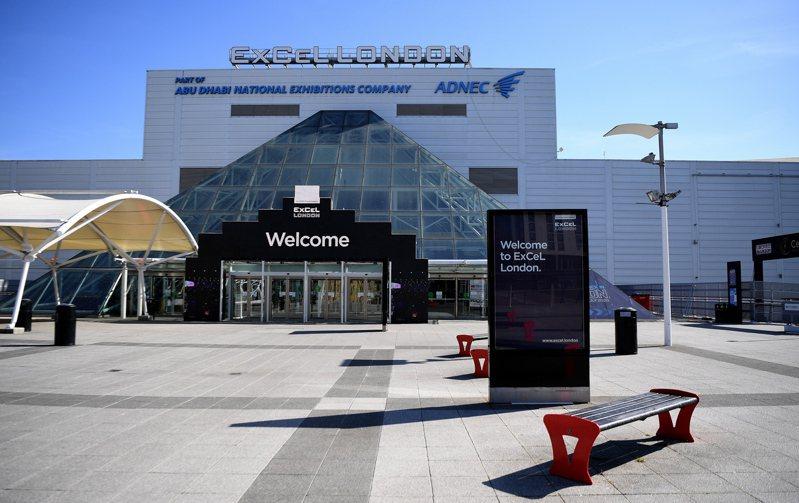 英國將把倫敦東部的ExCel展覽中心改建為一家可容納4000名病人的臨時醫院,專門用來接收新冠病毒患者。(歐新社)
