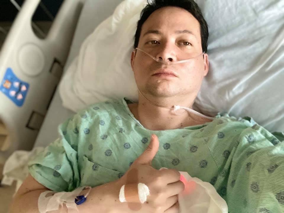 42歲的貝恩在感染新冠肺炎前,自認身體健康,幾乎沒有生過病。圖/貝恩提供