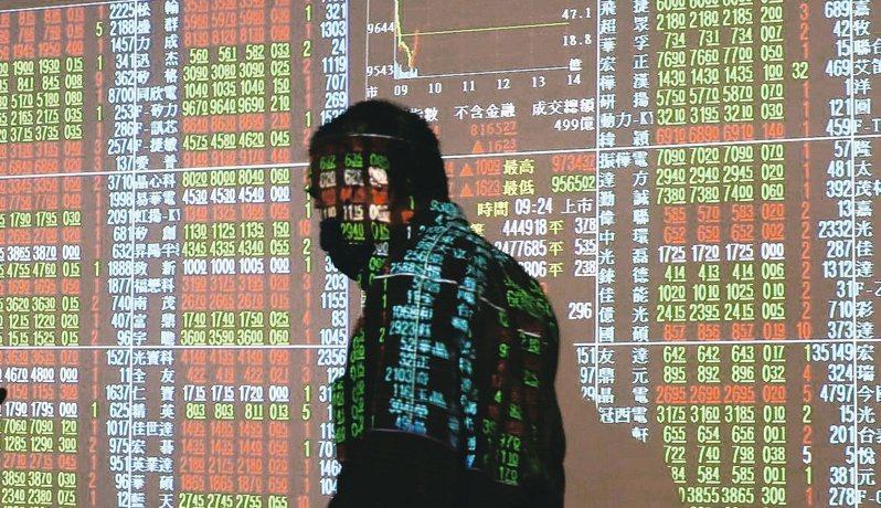 台股今天開高走低,收盤跌37.44點,為9698.92點,跌幅0.38%。聯合報系資料照/記者曾學仁攝影