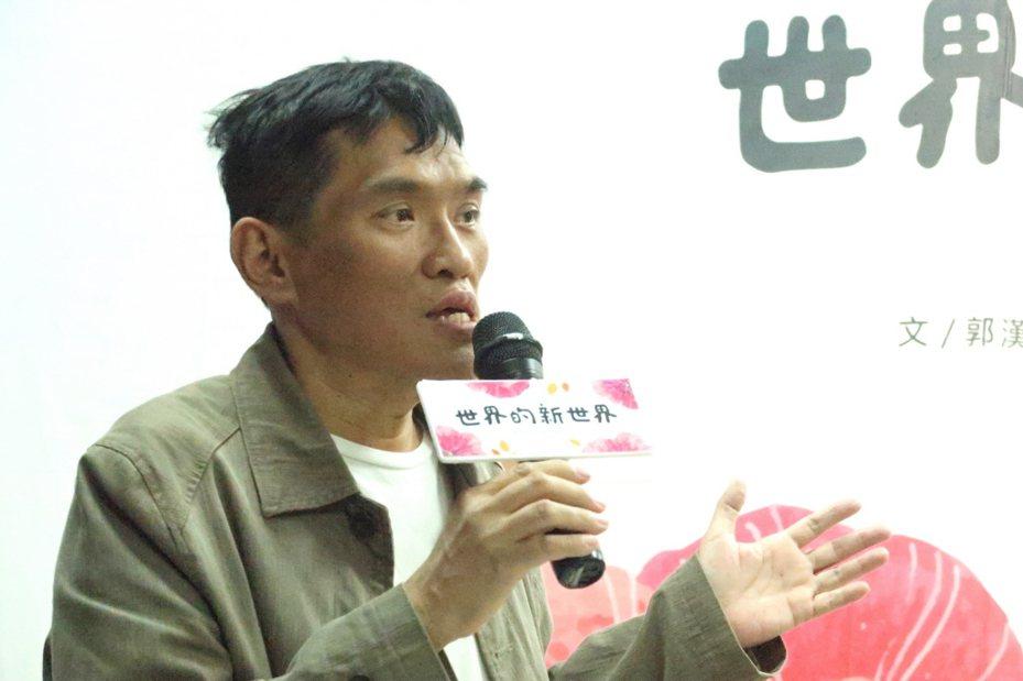 屏東知名作家郭漢辰昨天凌晨因肝癌病逝,享年56歲。 聯合報系資料照片/記者徐如宜攝影