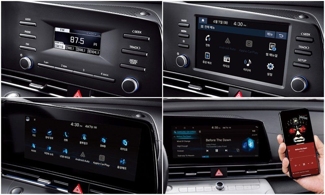 第七代Hyundai Elantra/Avante中控螢幕依據車型不同有著三種不...