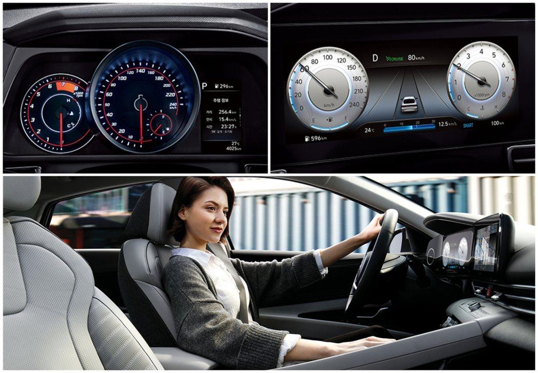 第七代Hyundai Elantra/Avante依照車型可選擇傳統雙環式儀表加...