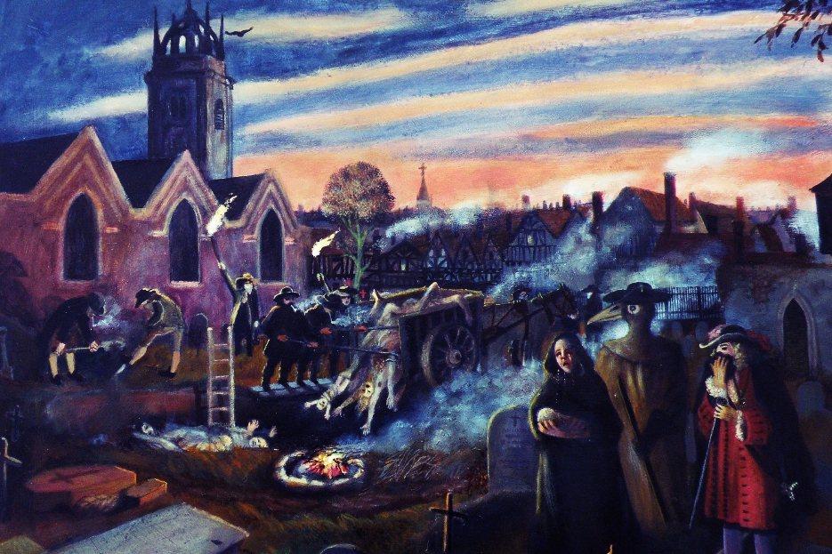 英國封城之際,數個世紀以前的伊姆村「自我隔離」故事,又再度被提起。圖為畫家Rit...