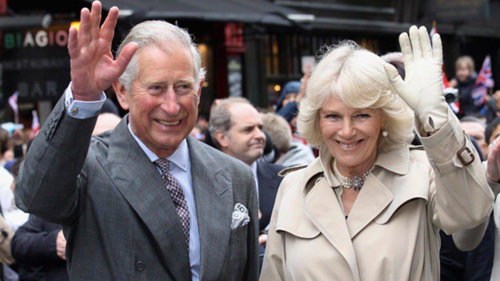 英國查理王子與妻子卡米拉。 REUTERS