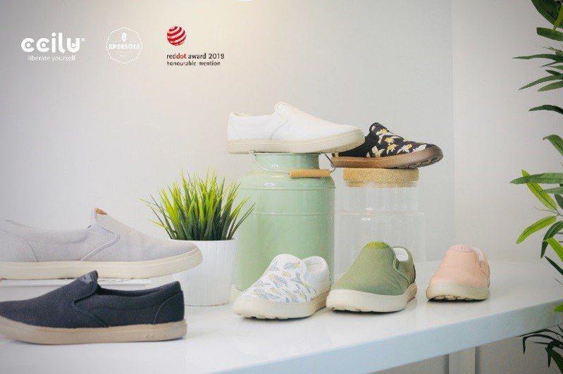 CCILU團隊希望藉由循環經濟的實踐,將有害環境的廢棄咖啡渣回收改製成柔軟舒適的防水休閒鞋。圖/聯合數位文創提供