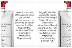 自己的義大利自己救!寶格麗70萬瓶防疫乾洗手來了