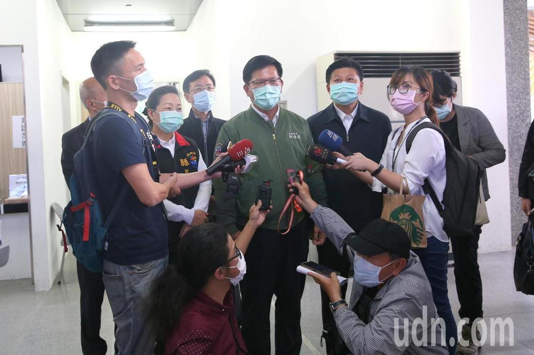 交通部長林佳龍今到花蓮視察,宣布試辦蘇花改提速。記者王燕華/攝影