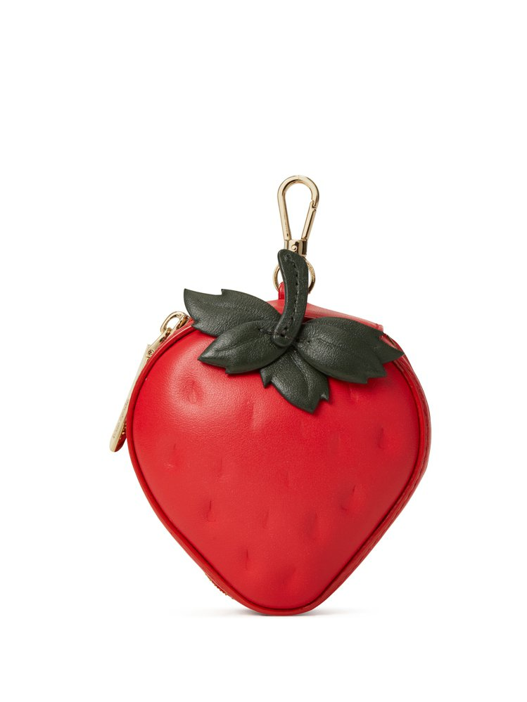 kate spade野餐系列櫻桃派草莓零錢包,售價3,800元。圖/kate s...