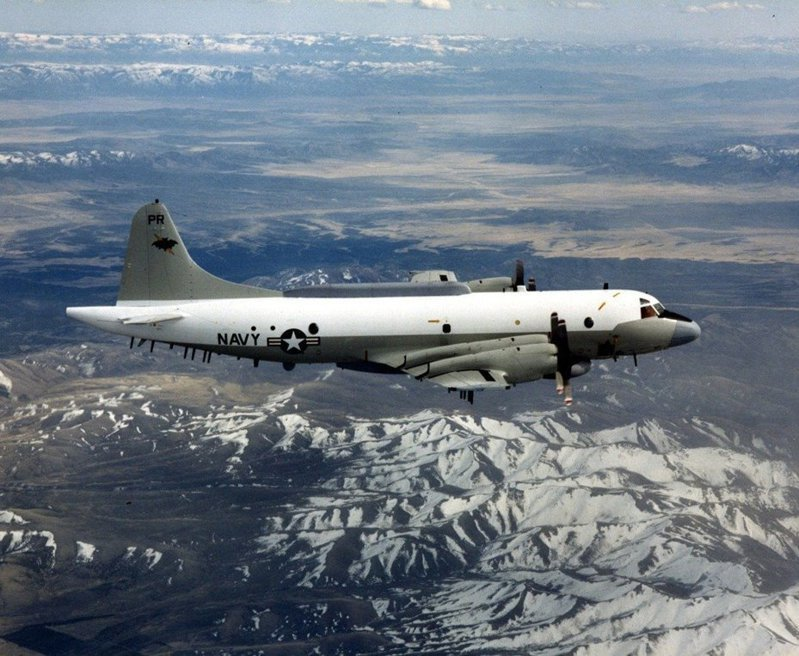 美國海軍EP-3E電子偵察機。圖取自美國海軍檔案照