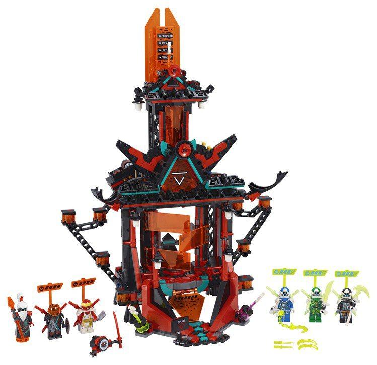 樂高旋風忍者「瘋狂帝王神廟」,售價3,199元。圖/樂高提供