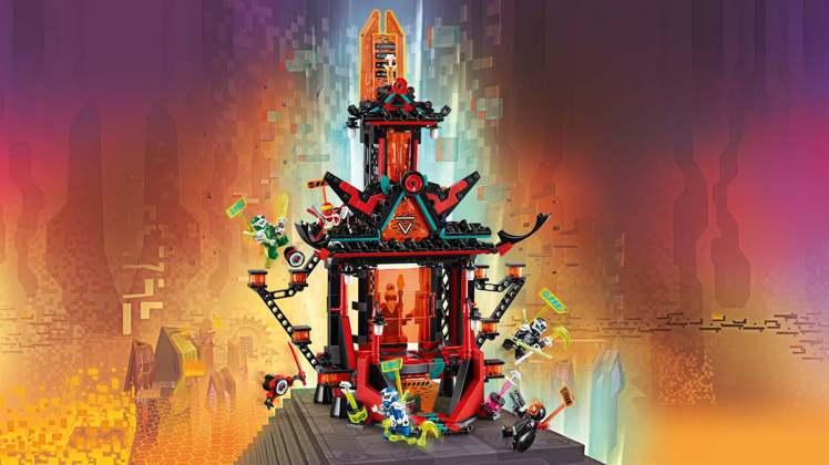 樂高旋風忍者系列全新一季動畫回歸,新品也完整展現動畫場景「瘋狂帝王神廟」。圖/樂...