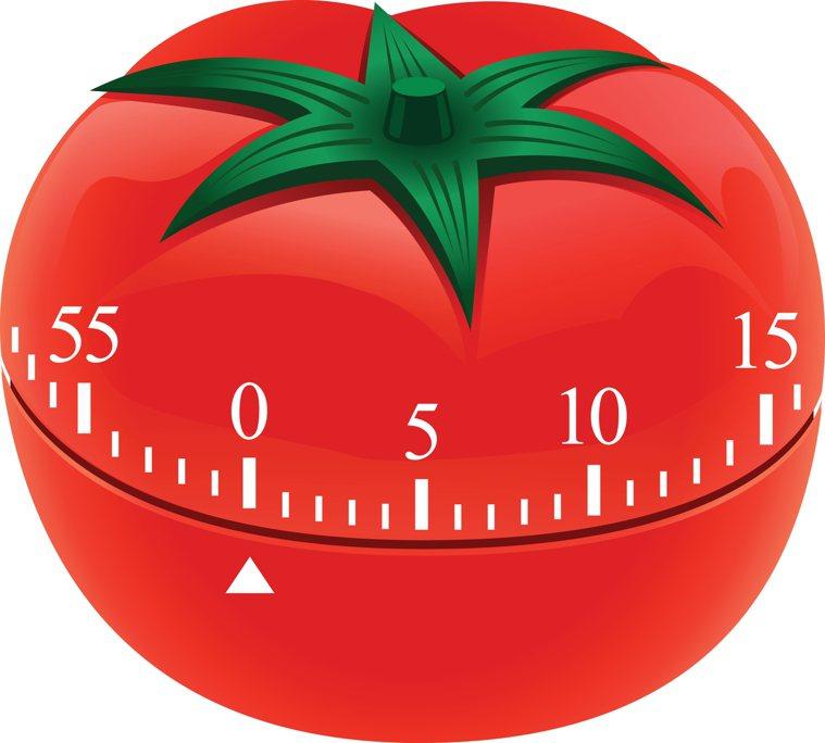 番茄鐘(示意圖)原本是廚房用番茄形計時器,研發出的時間管理法沿用至今。圖/ing...