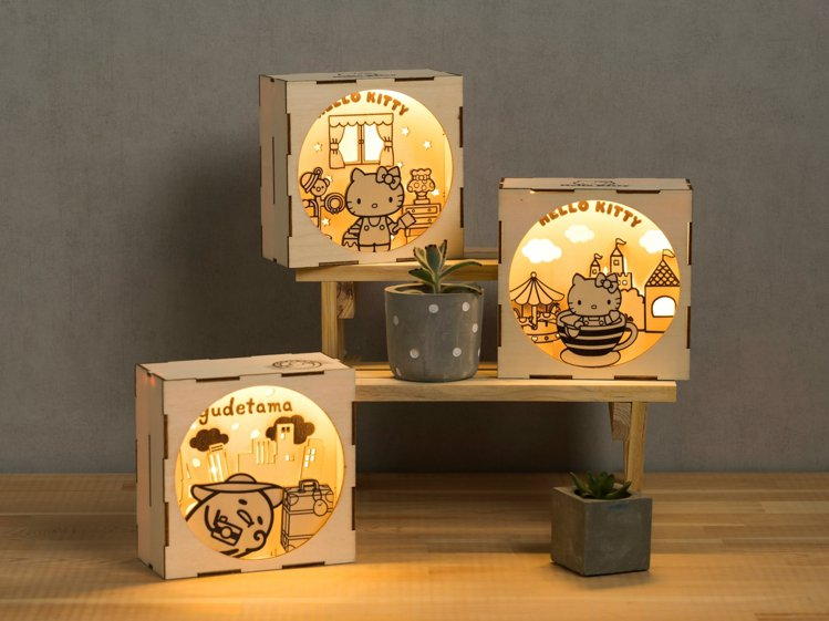 三麗鷗聯名手作小夜燈系列。圖/特力屋提供