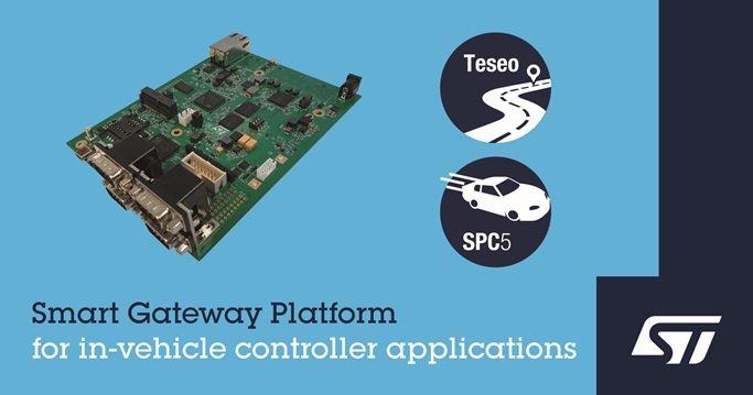 意法半導體推出針對車用閘道器及網域控制應用的智慧閘道平台。 意法半導體/提供