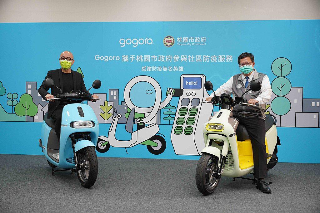 Gogoro率先投入40輛智慧雙輪提供桃園市政府與龜山區公所統籌運用於防疫服務。...