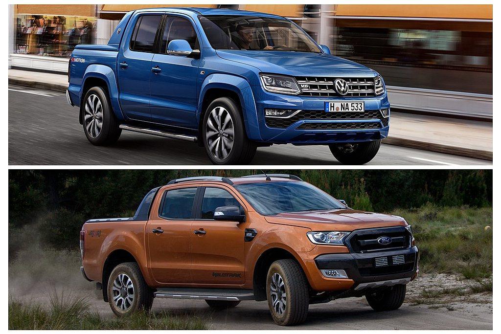 新世代福斯商旅Amarok、Ford Ranger確認會合作一起開發。 圖/Vo...