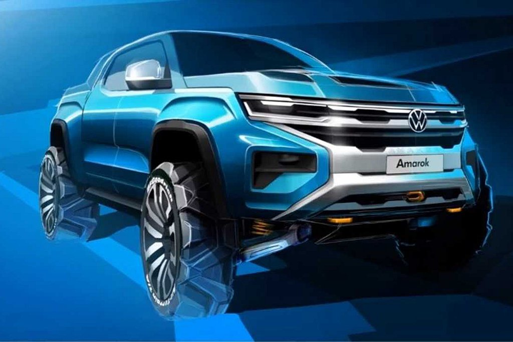 新世代福斯商旅Amarok外表有著更硬派的線條刻劃,並導入與家族新車相同的設計語...