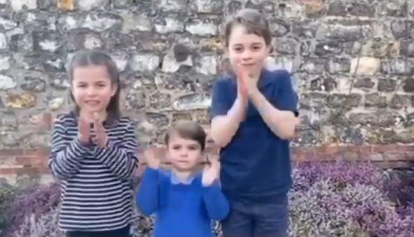 英國王室三兄妹拍片力挺醫護。圖擷自instagram