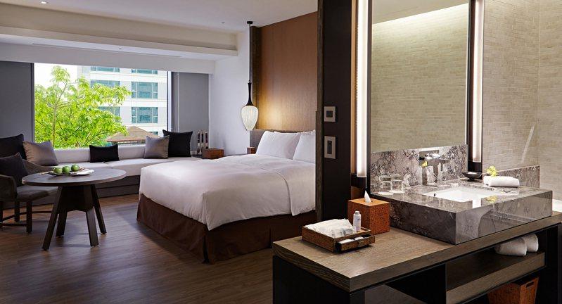 台南晶英飯店房型。 圖/業者提供