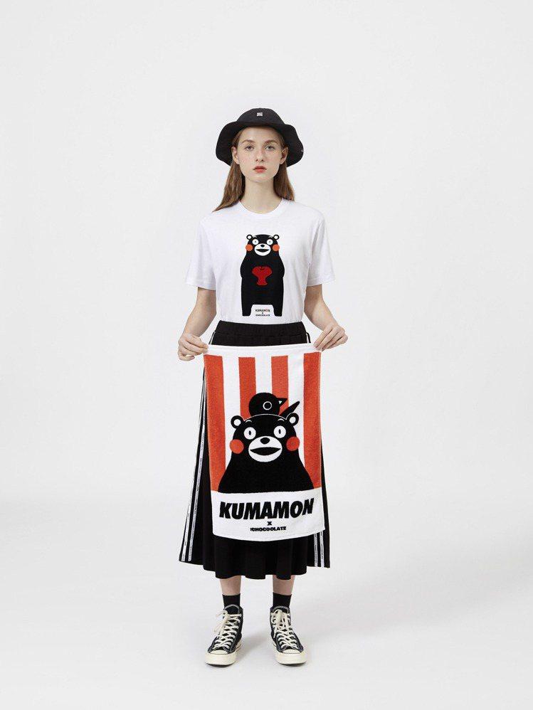 :CHOCOOLATE則推出了熊本縣吉祥物部長熊本熊KUMAMON聯名女裝。圖/...