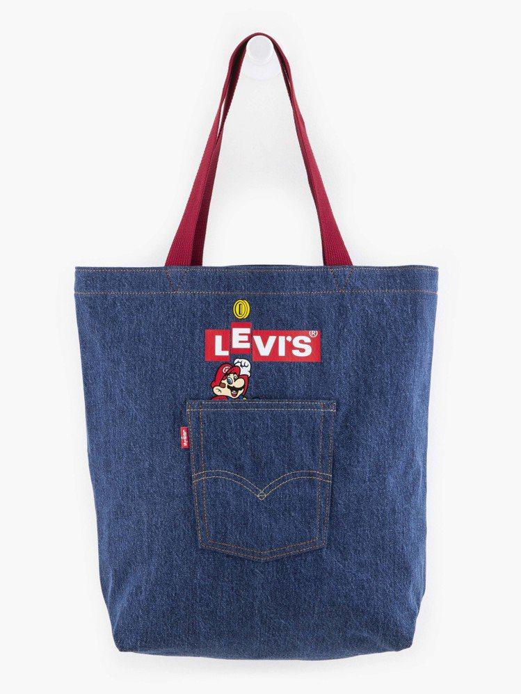 Levi's與Super Mario聯名系列托特包1,490元。圖/Levi's...