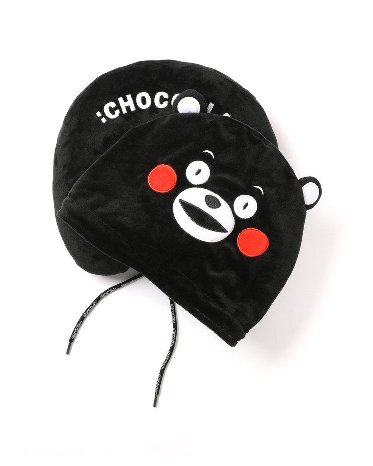 :CHOCOOLATE與熊本熊KUMAMON聯名頸枕1,499元。圖/:CHOC...