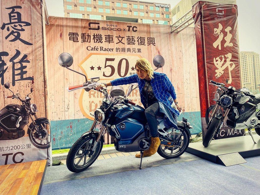王仁甫出席電動機車場子,聊當年和老婆愛的抱抱。圖/星恆娛樂提供