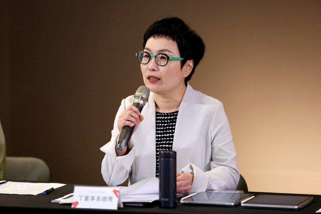 文化內容策進院丁曉菁董事長出席文策院記者會。圖/文策院提供
