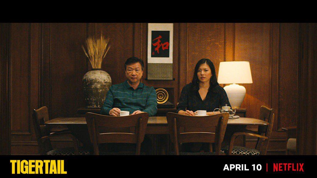 「摩天大樓」男星馬泰與高凌風之女葛曉潔在「虎尾」詮釋父女。圖/NETFLIX提供