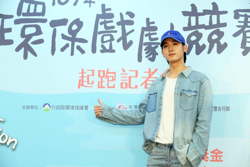 「小樂」吳思賢今天出席環保署戲劇競賽活動擔任推廣大使。記者徐兆玄/攝影