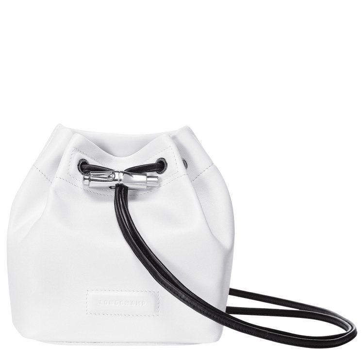 LONGCHAMP Roseau Souple白色迷你水桶包,售價18,300元...