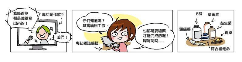 嗑藥。圖/編輯小姐Yuli