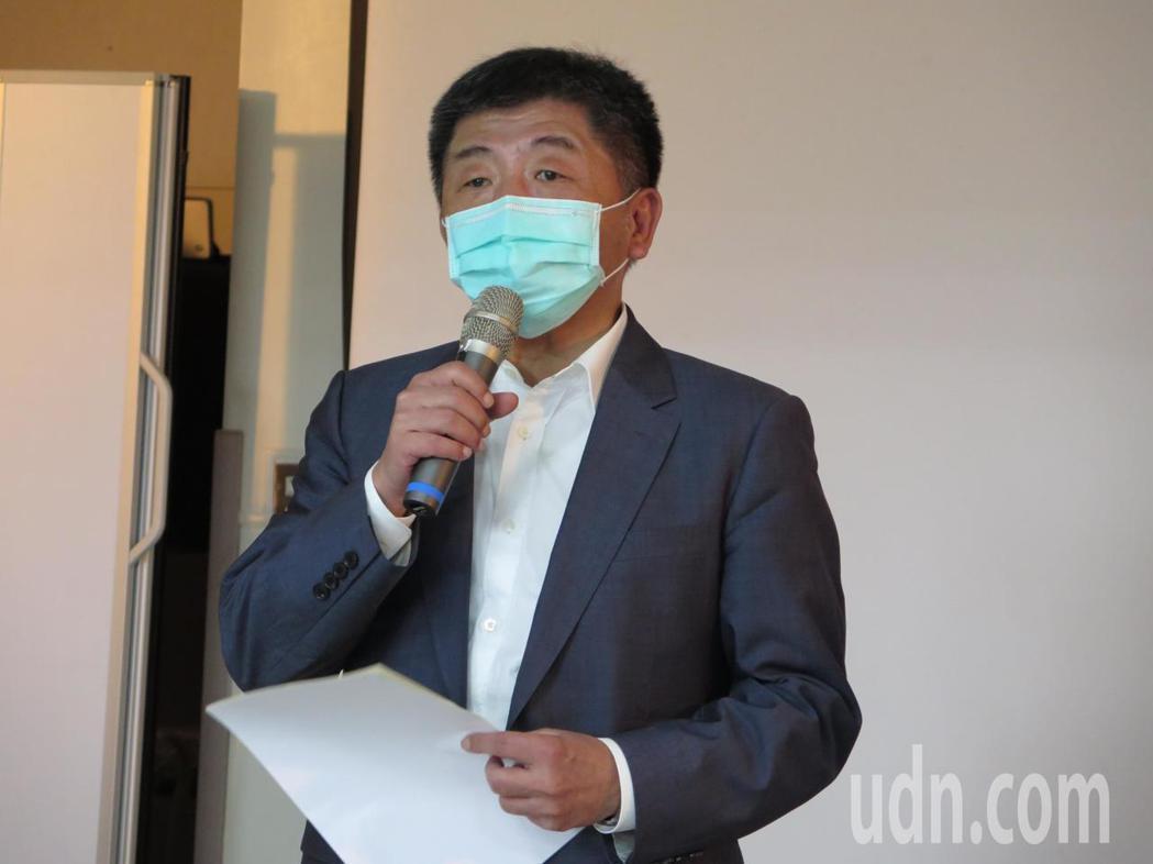 衛福部長陳時中今天向衛福部桃園醫院同仁致謝。記者張裕珍/攝影
